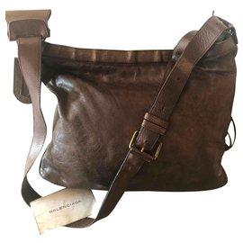 Balenciaga-Messenger bag-Brown