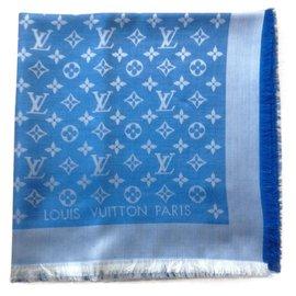 Louis Vuitton-Frais et coloré le carré Vuitton bleu clair-Bleu clair