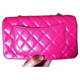Chanel-Mini sac rectangulaire Chanel Hot Pink-Rose