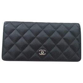 Chanel-Chanel Yen wallet in Black Caviar leather-Black