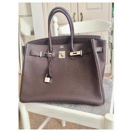 Hermès-Birkin 35-Braun