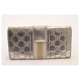 Gucci-Gucci long wallet-Silvery