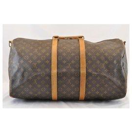 Louis Vuitton-Louis Vuitton Keepall Bandouliere 55-Marron