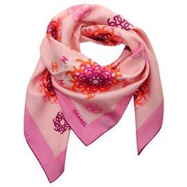 Chanel-Seiden Schals-Mehrfarben