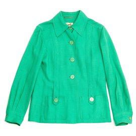 Hermès-GREEN YACHTING FR38-Doré,Vert