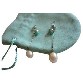 Tiffany & Co-Color by the Yard designed by Elsa Peretti with turquoise and cultured pearls-Silvery,Blue