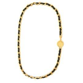 Chanel-CLASSIC BLACK GOLD T75/80-Noir,Doré