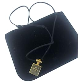 Chanel-Chanel perfume pendant-Golden