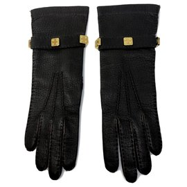 Loewe-Braune Loewe Handschuhe-Golden,Dunkelbraun