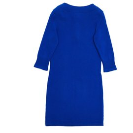 Chanel-ROYAL BLUE CASHMERE FR38-Blue