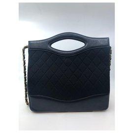 Chanel-Sac vintage Chanel-Noir