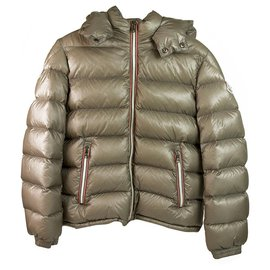 Moncler-Moncler New Gaston Giubbotto Taupe Puffer Hooded jacket for 12years or 152CM HEIGHT-Taupe