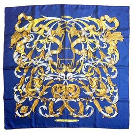 Hermès-Le Mors A La Conétable-Bleu,Doré
