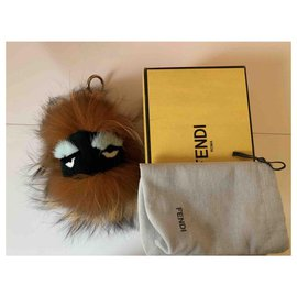 Fendi-Bag Bug-Brown