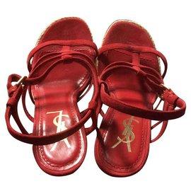 Yves Saint Laurent-Sandals Yves Saint Laurent-Red