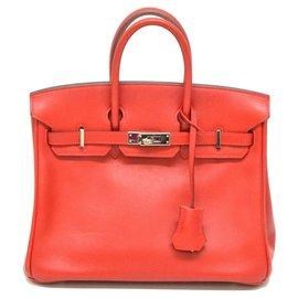 Hermès-HERMES BIRKIN 25-Rouge