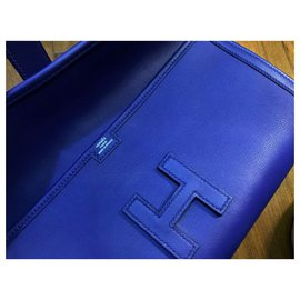 Hermès-Pochette Hermes Blue Electric Jige-Bleu