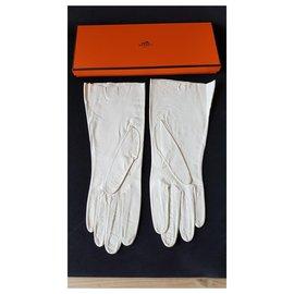Hermès-Handschuhe-Creme