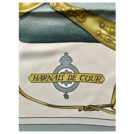 Hermès-Harnais De Cour-Bleu clair