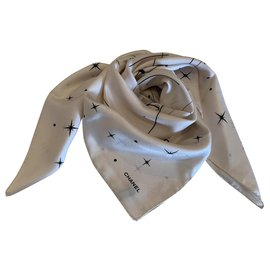 Chanel-SILK SCARF CHANEL-Eggshell