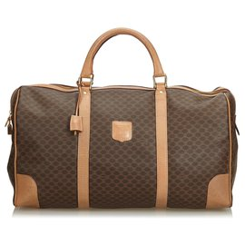 Céline-Celine Brown Duffle Bag-Marron