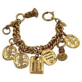 Chanel-Bracelet vintage-Doré