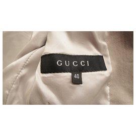 Gucci-veste Gucci en velours ras coton & soie-Gris