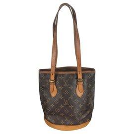 Louis Vuitton-Bucket-Marron