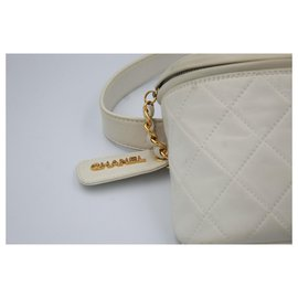 Chanel-Sac de taille-Blanc