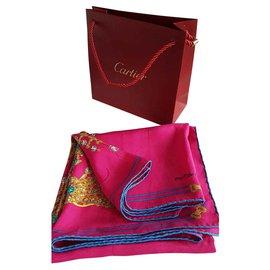 Cartier-Seiden Schals-Mehrfarben