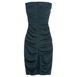 Carmen March-CARMEN MARCH robe drapée-Bleu Marine