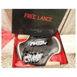 Free Lance-Angie - Free Lance - Stiefeletten 7 Lasrstarboot Neuzustand-Schwarz
