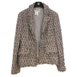 Chanel-Jackets-Pink,White,Grey