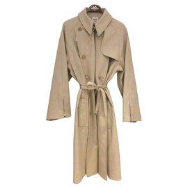 Hermès-Trench coats-Beige
