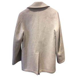 Hermès-Coat-Beige,Grey