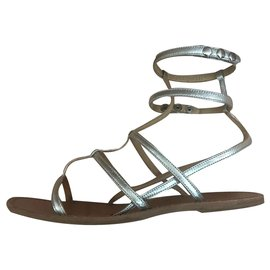 Isabel Marant-Sandals-Silvery