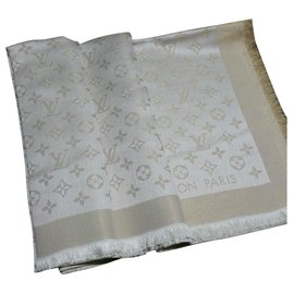 Louis Vuitton-Monogram Scarf-Beige