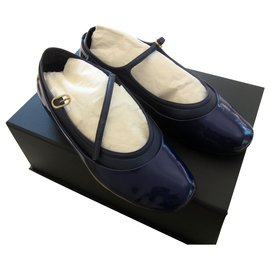 Chanel-Ballerines-Bleu