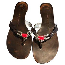 Giuseppe Zanotti-Sandals-Dark brown