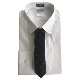 Chanel-CHANEL TWO SHIRTS MEN LONG SLEEVES SIZE 40 & SA TIE . NEW ARTICLES-White