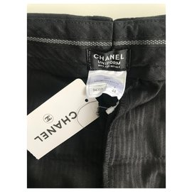 Chanel-CHANEL TROUSERS MEN CLASSIC BLACK SIZE 48 ! NEVER WORN , New !-Black