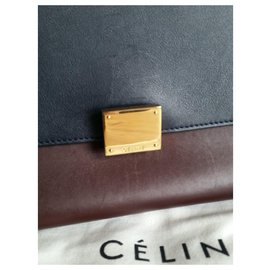 Céline-Trapeze-Dark red,Khaki,Navy blue