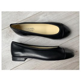 Chanel-Chanel leather ballerinas-Black