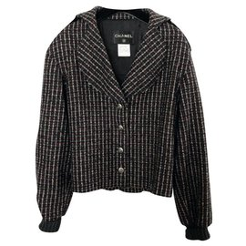 Chanel-Jackets-Black,White,Red