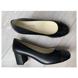 Chanel-Escarpins Chanel noirs-Noir