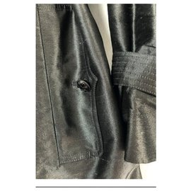 Chanel-Trench coats-Silvery,Grey