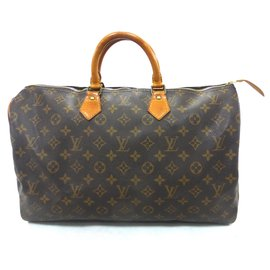 Louis Vuitton-Speedy 40 Monogram-Brown