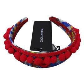Dolce & Gabbana-Accessoires pour cheveux-Rouge,Bleu,Multicolore