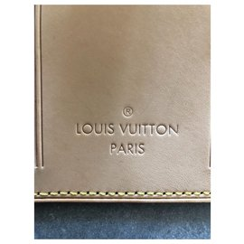 Louis Vuitton-2 Louis Vuitton label holder-Beige