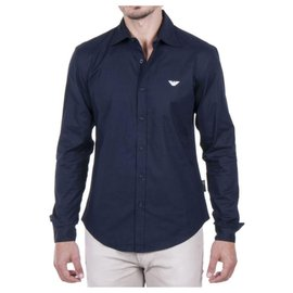 Emporio Armani-EMPORIO ARMANI NEW MEN'S SHIRT-Blue